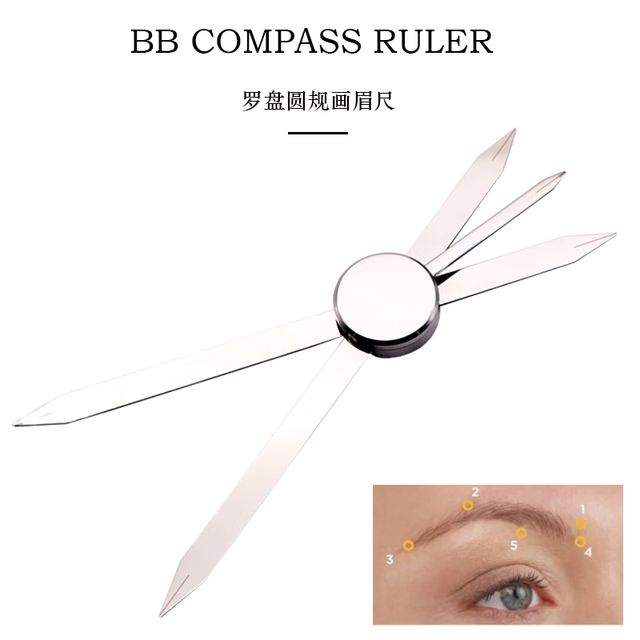 Ruler Positioning Bow Eyebrow Tattoo Mapping Make Up Measuring Tool Thread Dyeing Liners Semi Permanent Microblading
