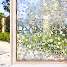 3D Cobblestone Decorative Window Film Static Decal Cling Glass Stickers for Privacy Heat Control An-ti UV Vinyl Window Covering