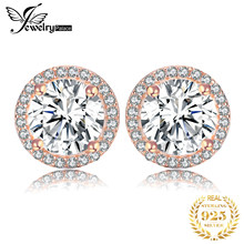 JewelryPalace CZ Stud Earrings Rose Gold 925 Sterling Silver Earrings For Women Girls Korean Earrings Fashion Jewelry 2019(China)