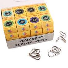 32 pièces classique IQ Montessori métal fil Puzzle déroutant cerveau Teaser anneaux magiques Puzzles jeu jouets pour adultes enfants enfants cadeaux