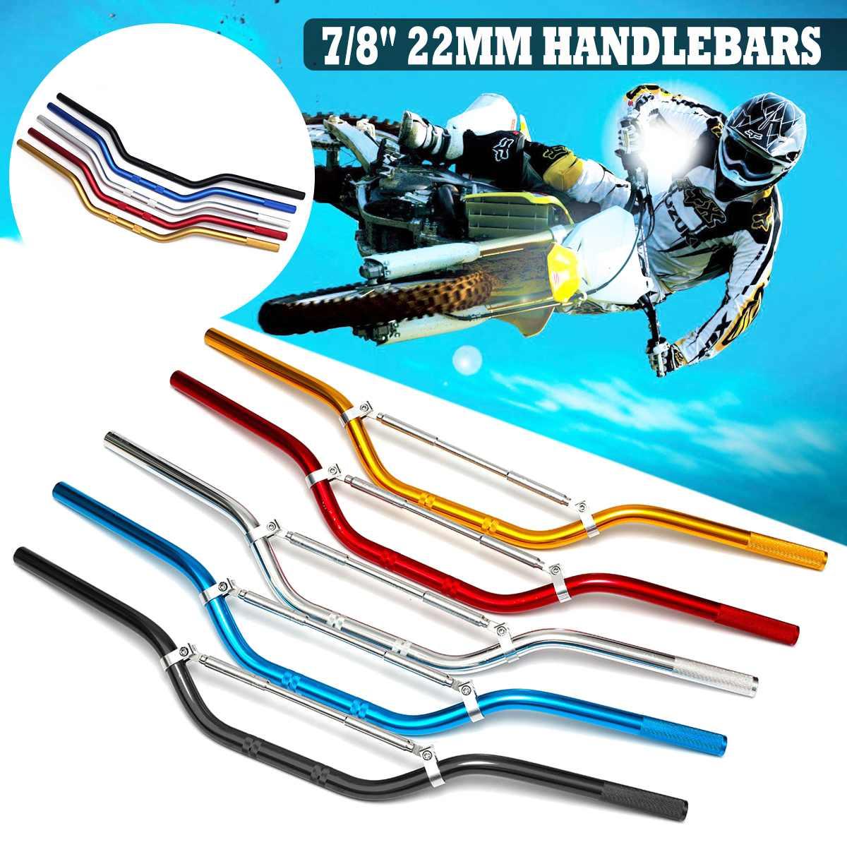 22mm Universal Motorcycle Handlebar Motor Motorbike Aluminum Alloy Handlebars Moto Scooter Retro Black Anti-rust Handle Bars