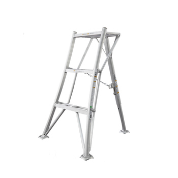 new 15 5ft step platform multi purpose all rustproof aluminum alloy folding scaffold step ladder for commercial use tool Hasegawa practical step ladder Aluminum Professional garden triangle ladder Orchard Picking tools Folding lightweight