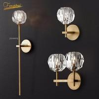 Nordic led lâmpadas de parede vidro moderna personalidade cristal arandela romântico casa luminária luzes parede cabeceira do banheiro deco café|Luminárias de parede| |  -