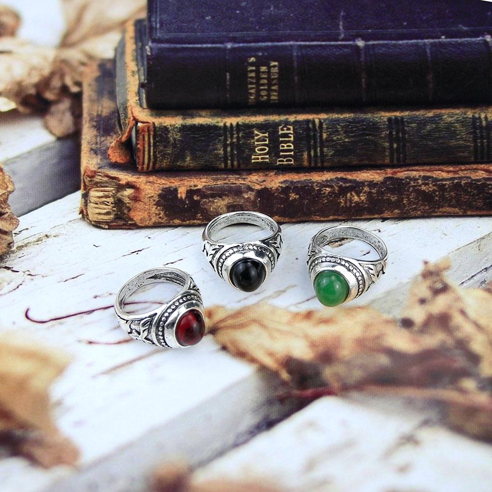 Женское Винтажное кольцо SUNSPICE, красное кольцо из натурального камня в богемном стиле, с рельефным оленем, этнические ювелирные изделия