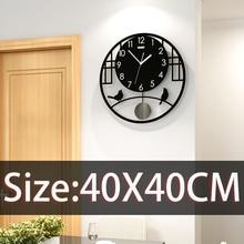 Creative Silent Wall Clock Battery Modern Design Round Shape Hanging Watch Black color Kitchen Quartz Free Shipping