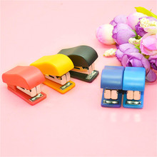 Stapler-Set Binder-Book Paper-Clip School-Supplies Binding Staionery Small Mini Office