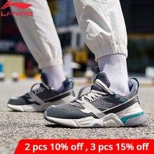 لى نينغ الرجال 001 R 1 الكلاسيكية الترفيه نمط الحياة الأحذية ضرب اللون الرجعية أبي بطانة أحذية لى نينغ أحذية رياضية AGCP061 YXB308
