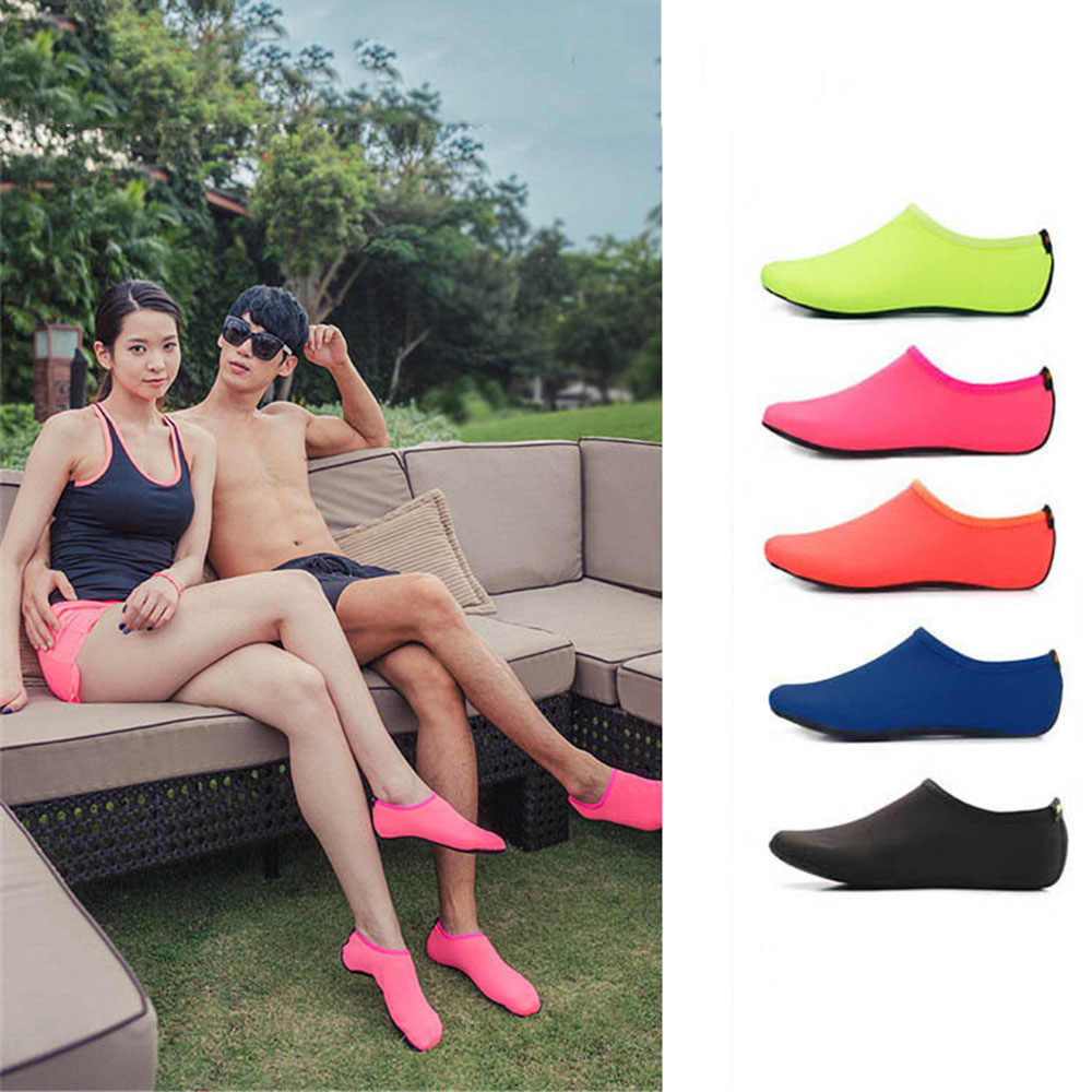 Beach Swimming Socks Water Socks Anti-Slip Swim Surfing Diving Underwater Shoes Swimming Fins Flippers for Kids Men Women