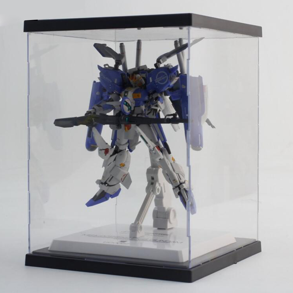 Clear Acrylic Display Case Countertop Box Showcase Organizer Dustproof for Action Figures Collectible Toys (21x21x35cm)