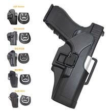 Étui de pistolet tactique pour Glock 17 19 Beretta M9 Colt 1911 Sig Sauer P226 HK USP Airsoft étui de ceinture étui de pistolet de chasse général