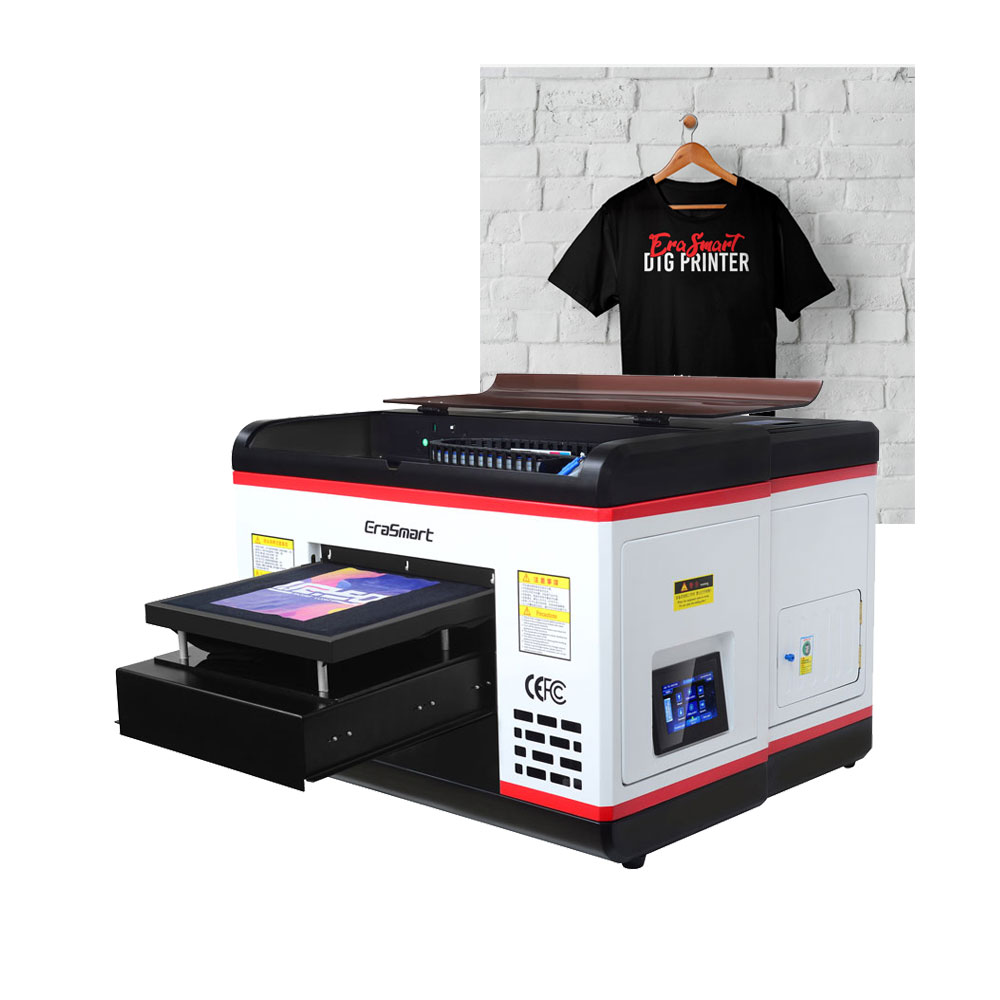 Erasmart Digital T Shirt Printing Machine Fabric Clothes Printing Machine <font><b>Tshirt</b></font> <font><b>Printer</b></font> image