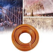 2 м гибкий сценический фон для моделирования с трубкой, полка для свадебной арки, ПВХ, алюминий, устойчивый к ржавчине, вечерние принадлежности, прочное одноцветное изделие, сделай сам