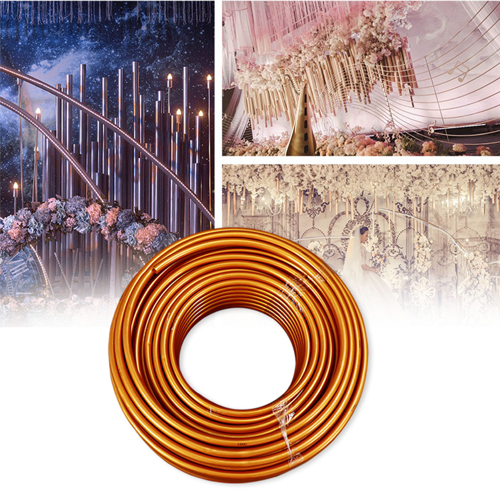 2m Modeling Tube Flexible Stage Background Wedding Arch Shelf PVC Aluminum Rust Resistant Party Supplies Prop Durable Solid DIY
