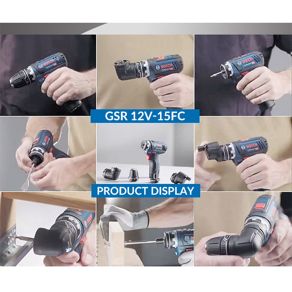 Tools : Bosch GSR12V Cordless Drill Electric Drill Wireless Power Driver Lithium-Ion Battery Screwdriver Drilling Machine With LED Ligh