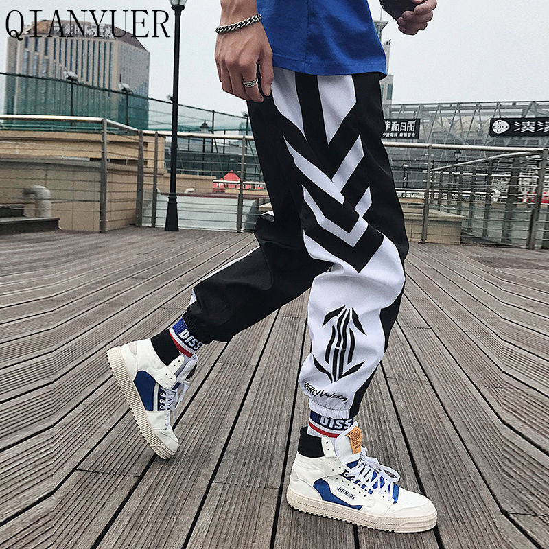 Men Sport Pants Summer Thin Section Personality Hip Hop Trend Loose Beam Feet Nine Pants Students Couples Trend Pants