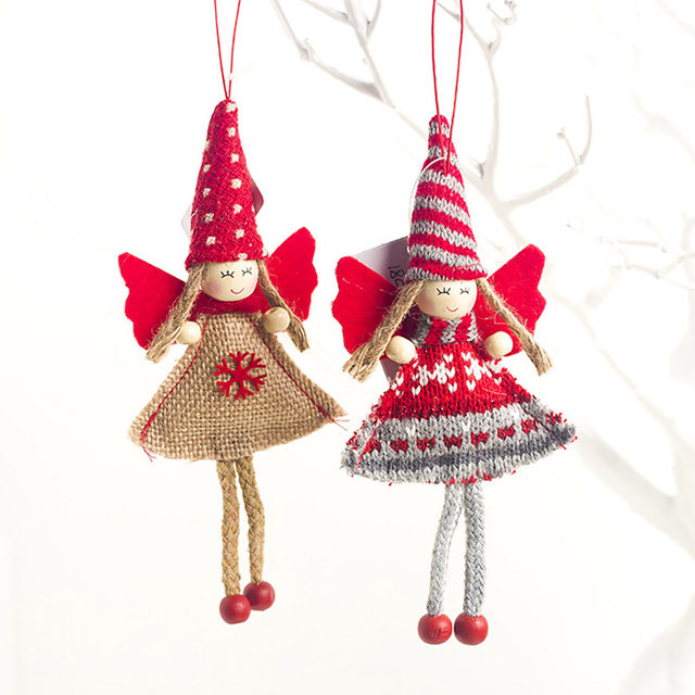 1pcs Angel Doll Pendants Christmas Hanging Ornaments Small Gift for New Year Xmas Party Decoration Baubles SA146 14
