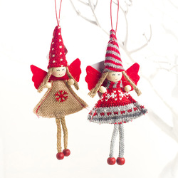 1pcs Angel Doll Pendants Christmas Hanging Ornaments Small Gift for New Year Xmas Party Decoration Baubles SA146 3