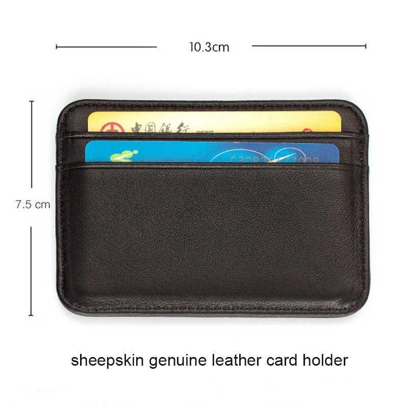 ของแท้หนังธุรกิจIDบัตรเครดิตผู้ถือกรณีบัตรผู้ถือบัตรRFIDกระเป๋าสตางค์ผู้ชายPorte carte