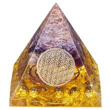 Tumbeelluwa исцеляющий Кристалл Золотая проволока orgonite Пирамида