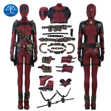 Lady Deadpool Costume Red Jumpsuit Women/Female Adult Halloween Carnival Cosplay For Women Custom Made