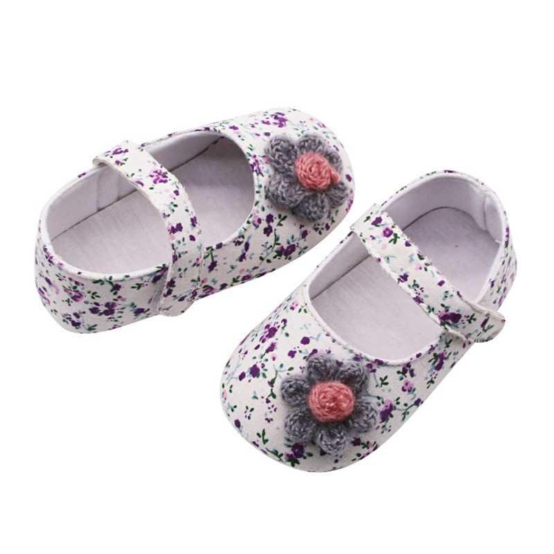 2020 Baru Bayi Bayi Gadis Sepatu Bernapas Floral Cetak Anti-Slip dengan Kasual Sneakers Balita Sepatu Bersol Lembut