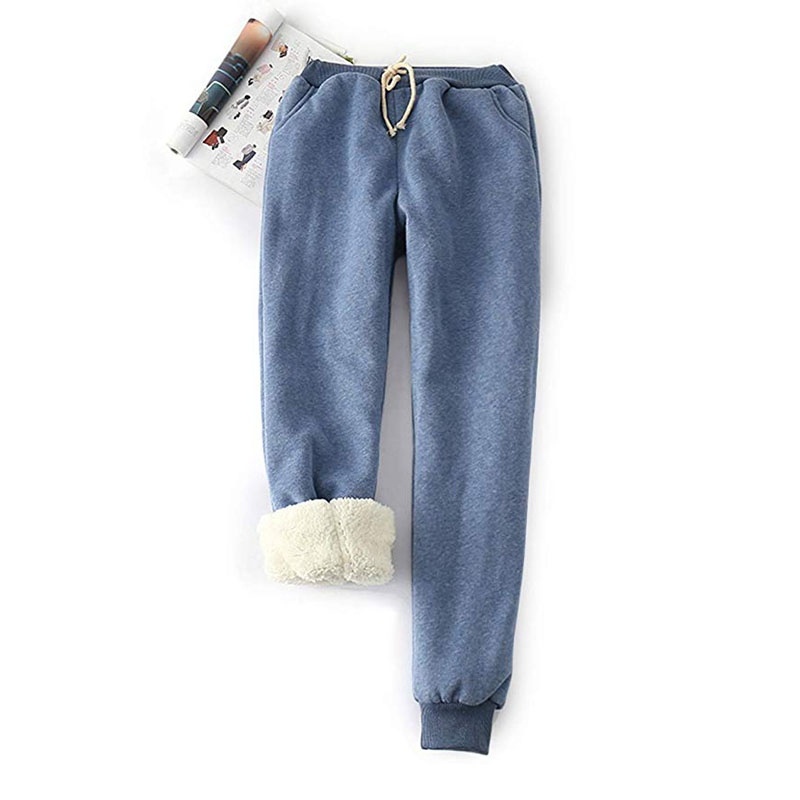Plus Size S-2XL Women's Warm Sherpa Lined Athletic Sweatpants Joggers Fleece Pants 9 Different Colors Drop Shipping