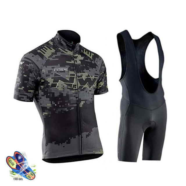 Cycling Jersey <font><b>2019</b></font> <font><b>Northwave</b></font> Summer Men Cycling Clothing MTB Maillot Ropa Ciclismo Quick Dry Short Sleeve Bicycle Clothes <font><b>Nw</b></font> image