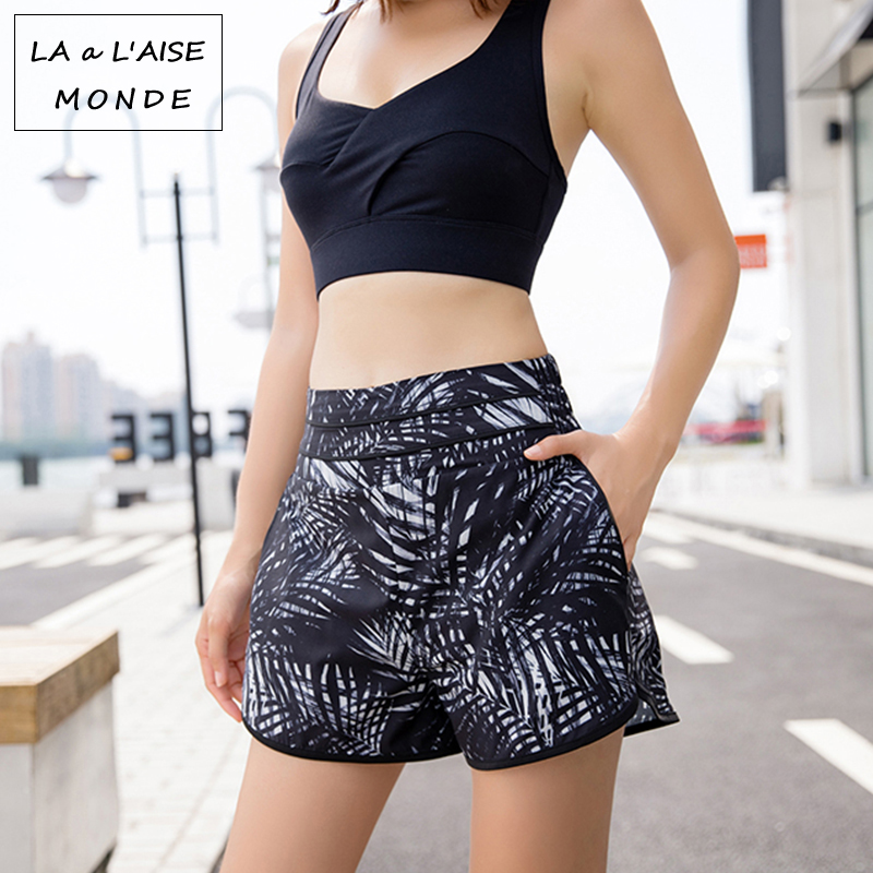 Ladies Marathon Running Shorts Stretch Waist Fitness Quick-Drying Loose Breathable Fitness Shorts Sports Clothing For Women