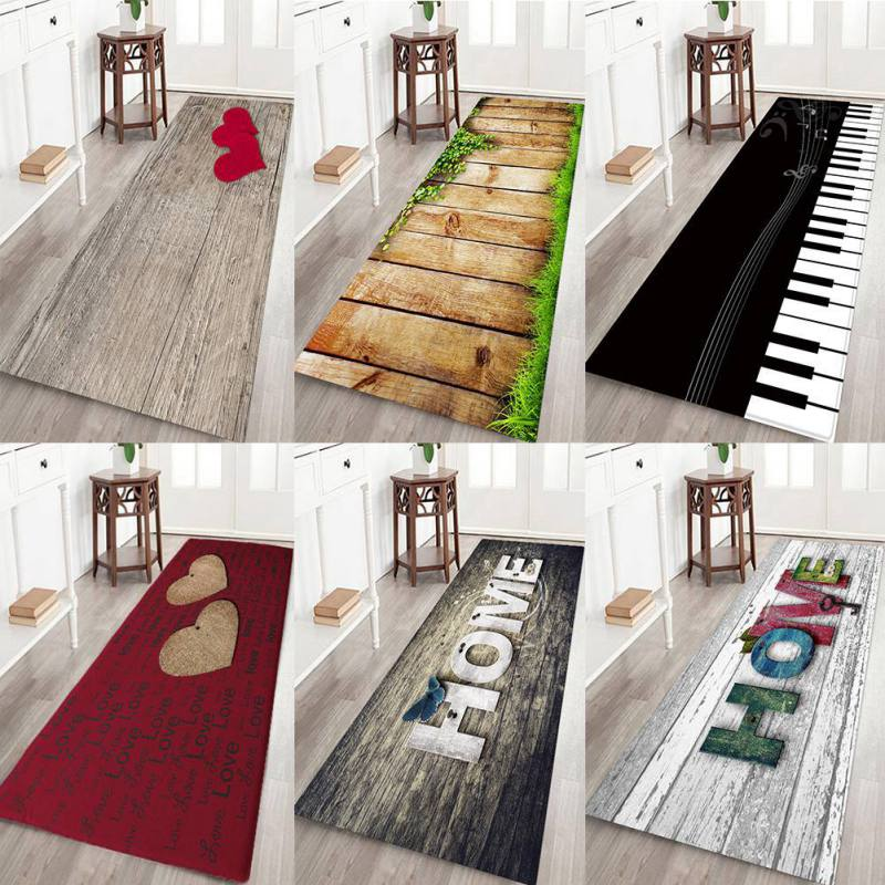 Anti-slip Home Kitchen Mat Bathroom Carpet Entrance Balcony Garden Hotel Doormat Tapete Bedroom Area Rugs Machine Wash