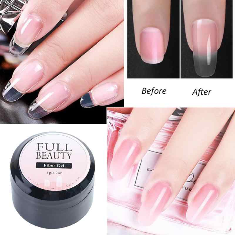 Nagel Gel Nagel Fiber Fibernails Clear Nail Tips UV Gebouw Gel Jelly Acryl Vinger Nail Art TOOL TSLM2