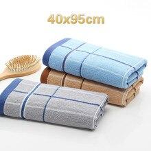 High Quality Cotton Plain Plaid Soft Washcloth Home School Dormitory Hotel Bathroom Bathrobe Gym Yoga Sports Large Towel Gift