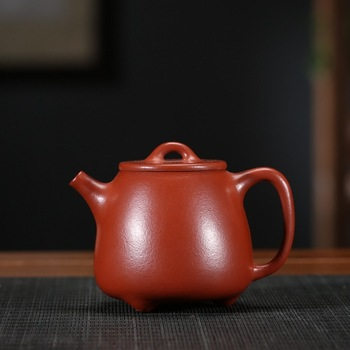 Yixing famous manual recommended undressed ore dahongpao kaolinite gourd ladle 200 ml of fine workmanship tea sets