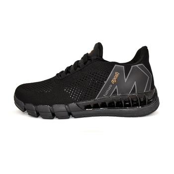 Tunuo Mens shoes;2020 new style;Comfortable non-slip running shoes in black with cotton fabric; Breathable comfortable sneakers