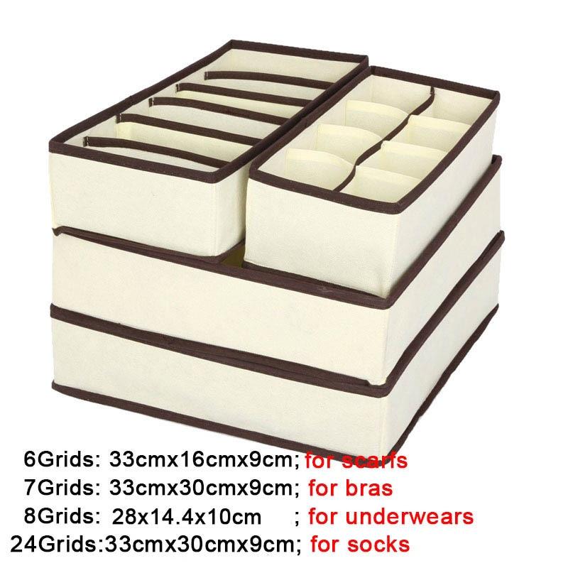 Closet-Organizer Underwear Container Storage-Box Scarf-Sock Wardrobe Drawer Casket Multi-Size