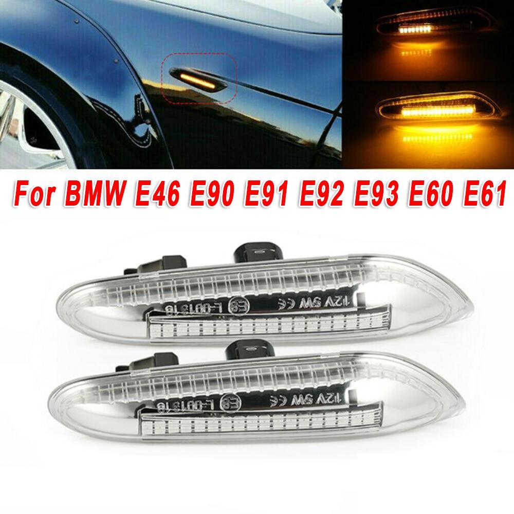 Clear Lens Front Side Marker Turn Signal Light Lamp Cover Replacement for E82 E90 E92 E93 E60 E61 1 35 Series X1 X3