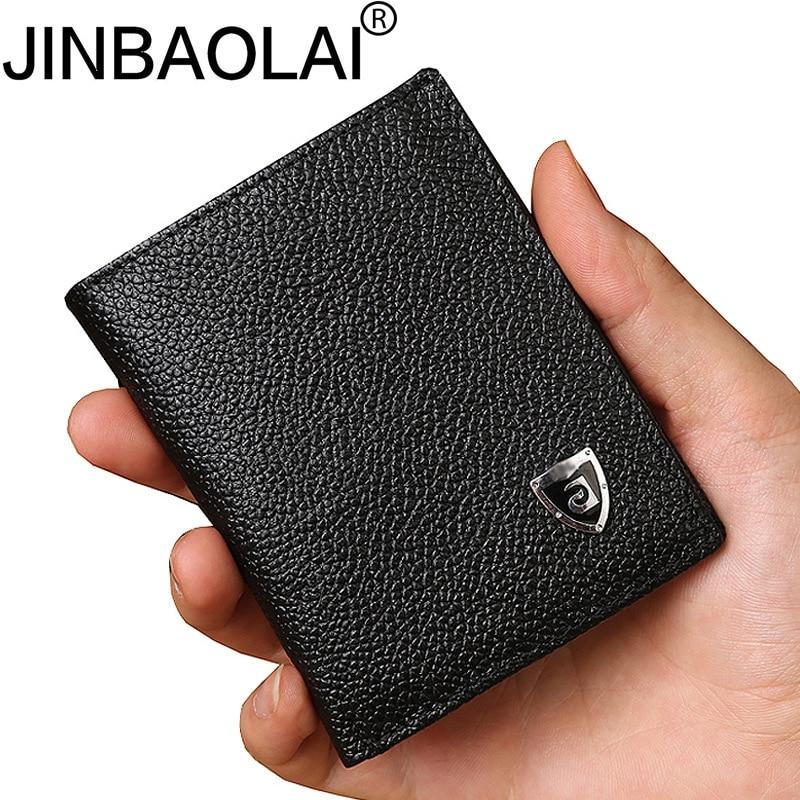 Small Slim Mini Genuine Leather Men Wallet Male Purse Thin Walet Cuzdan Vallet Money Bag For Card Holder Short Kashelek Partmone(China)