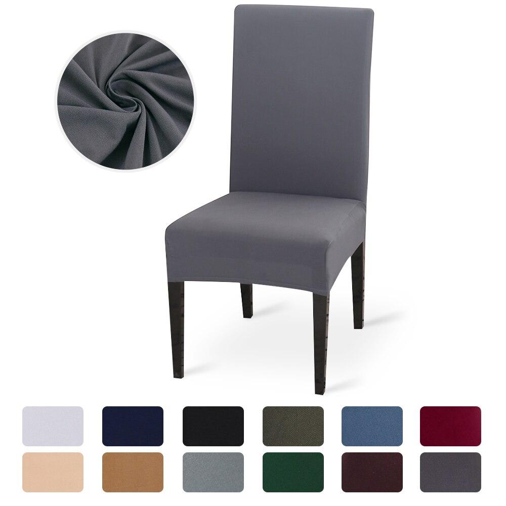Color sólido funda silla LICRA para sillas elastica fundas para sillas blanco para Comedor Cocinae scritorio banquete de boda Hotel escritorio fundas sillas envio gratis
