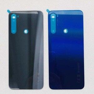 """Image 3 - 6.3 """"Xiaomi Redmi Note 8T 유리 백 배터리 커버 케이스 + 3M 접착 스티커 Redmi Note 8T 케이스"""