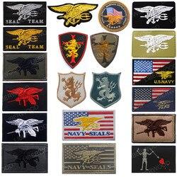 Eua marinha remendo selo equipe 6 trident 3d pvc borracha tático remendo selos equipe tridente leão emblema do exército remendos applique para uniforme