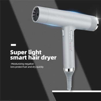 Blow Dryer Negative Ions Hair 3 Wind Speed And Temperature Adjustable Hairdryer Hot Cold Blower Disffuser Nozzle - discount item  50% OFF Personal Care Appliances
