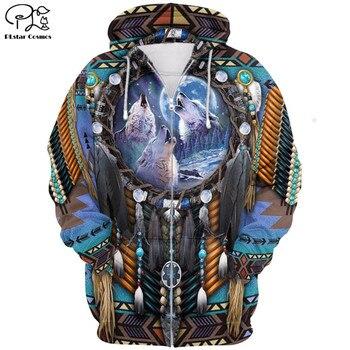 Fashion Hoodie Native Indian armor 3D Printed zip hoodies Unisex Harajuku streetwear women for men jacket sudadera hombre