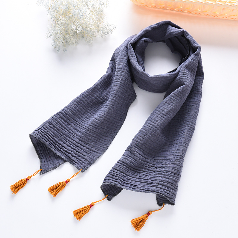 Korean-style New Style Children Cotton Scarf Autumn And Winter Tassels Warm Men And Women Baby Versitile Fashion Scarf