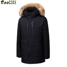 90 Down Jackets Men Winter Jacket Men Fashion Thick Warm Parkas Fur White Duck Down Coats Casual Man Waterproof Snow Jackets cheap Loose zipper Full Pockets Epaulet Zippers Adjustable Waist Thick (Winter) Broadcloth Acetate Polyester Hat Detachable