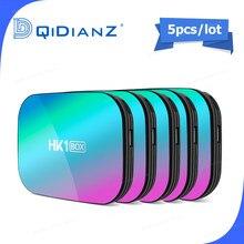 5 pezzi Smart TV BOX hk1box Android 9.0 1000M Amlogic S905X3 8K Dual Wifi BT Fast Set top BOX hk1 x3 PK HK1MAX H96 a95x
