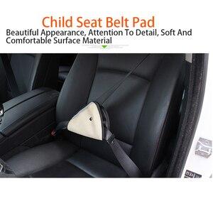 Image 4 - 1pcs ילד חגורת בטיחות כרית אביזרי רכב קישוט לוח מחוונים תליית תליון ילד הגנה משולשת מחזיק מושב תומך