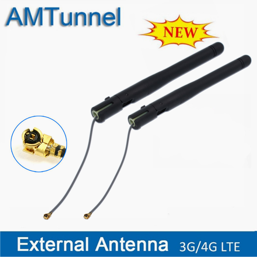 WiFi antenna Pigtail Cable 2.4GHz Antena 3dBi IPX antenne 2300-2500MHz IPEX female for Mini Wireless PCI-E card 2pcs