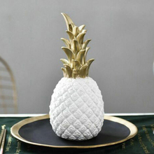 Pineapple Figurine Golden Ceramics Ornaments Handmade Fruit Model Miniatures Home Decoration Kitchen Tool