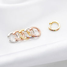 Bamoer orecchini a cerchio in argento sterling 925 Color oro per donna 10 colori orecchini a cerchio gioielli da sposa colorati CZ SCE498