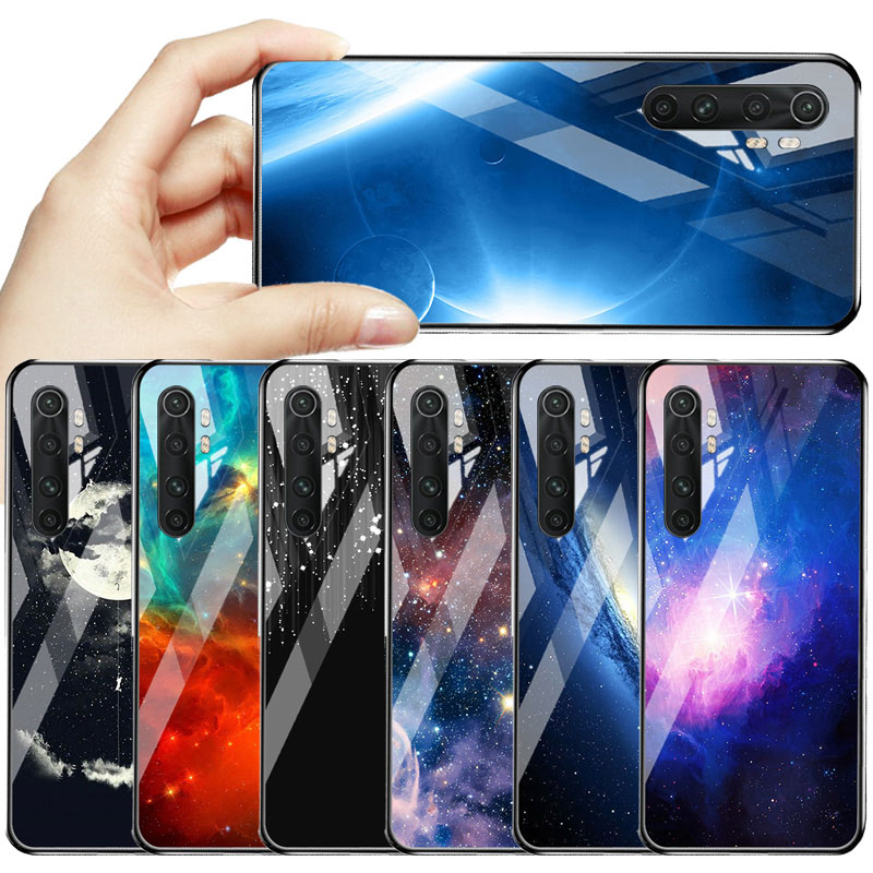 Funda de vidrio templado para Xiaomi Mi Note 10 Lite, protector de parachoques para Xiaomi Mi 9T 9 Lite A3 8 SE A2 A1 Pocophone F1