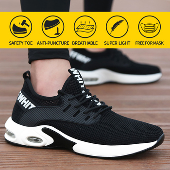 Safety Shoes Men Steel Toe Work Boots Women Anti-Smashing Anti-Puncture Comfort Breathable Construction Indestructible Sneakers larnmern mens steel toe safety shoes lightweight breathable anti smashing anti puncture anti static protective work boots